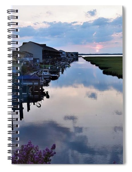 Sunset View At The Art League Of Ocean City - Maryland Spiral Notebook