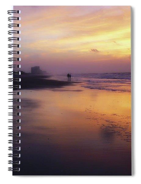 Sunset Walk On Myrtle Beach Spiral Notebook