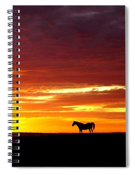 Sunset Watcher Spiral Notebook