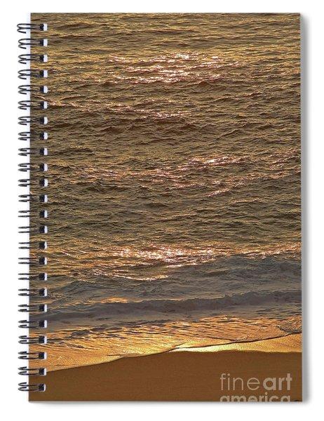 Sunset Waves Over Carmel Beach Spiral Notebook