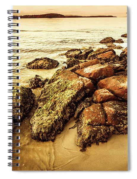 Sunsets And Sea Stones Spiral Notebook