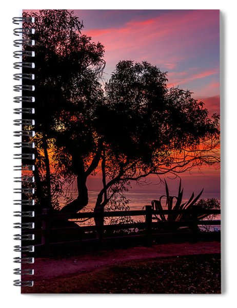 Sunset Silhouettes From Palisades Park Spiral Notebook