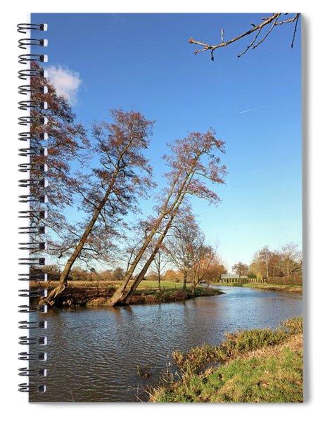 Sunshine On The River Wey At Send Surrey Uk Spiral Notebook