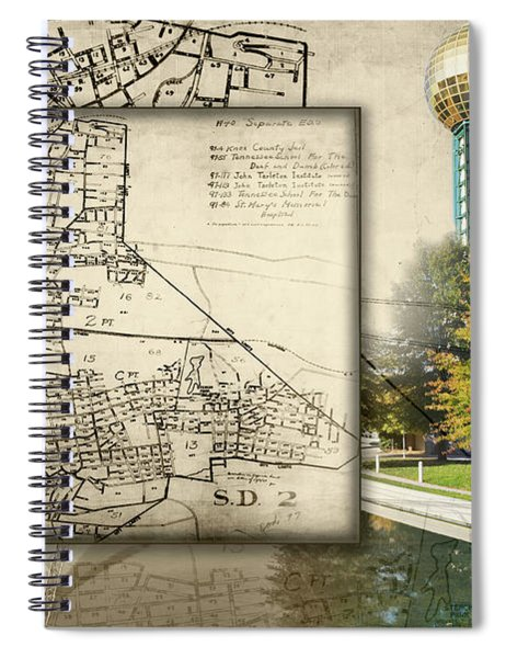 Sunsphere Mapped Spiral Notebook