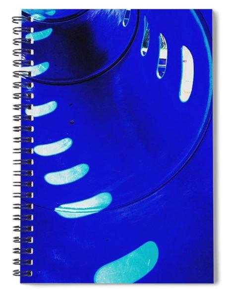 Sunspots. #playground #pattern #blue Spiral Notebook