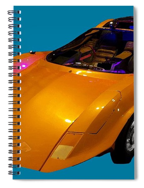 Super Car Orange Art Spiral Notebook