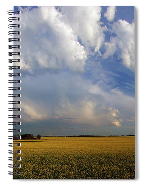 Super Cell Over The Canola Spiral Notebook