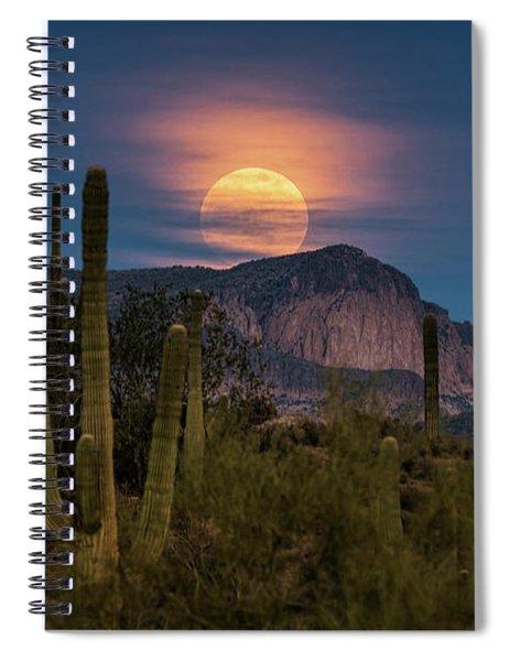 Super Moon 2018 - Wolf Moon  Spiral Notebook