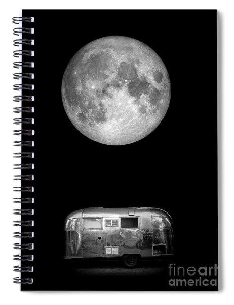 Super Moon Airstream 3 4 Spiral Notebook