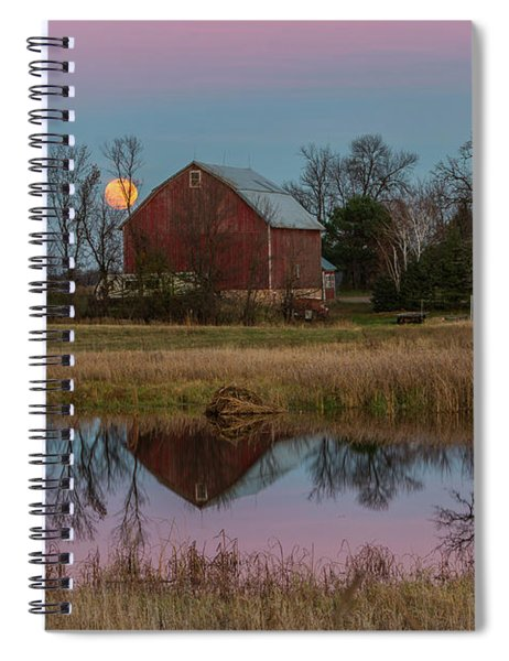 Super Moon And Barn Series #1 Spiral Notebook