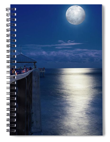Super Moon At Juno Spiral Notebook