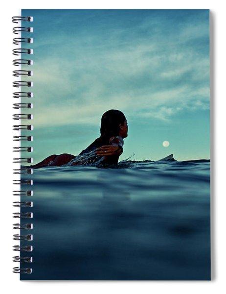Super Moon Spiral Notebook