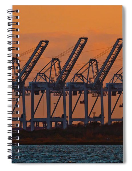 Super Post-panamax Sts Cranes Spiral Notebook