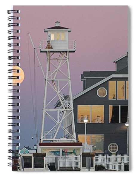 Super Wolf Moon At The Watch Tower Spiral Notebook