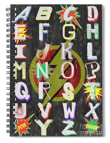 Superhero Alphabet Spiral Notebook