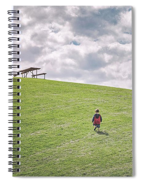 Superman And The Big Hill Spiral Notebook