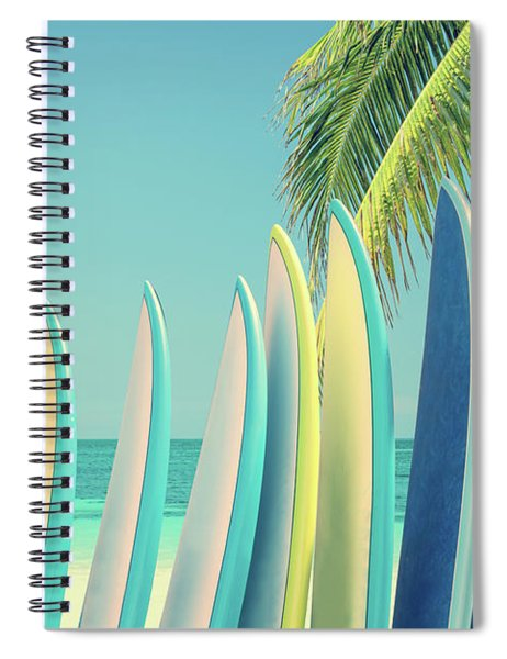 Surfboards Spiral Notebook