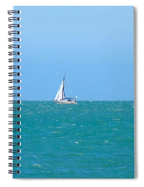 Surf And Sail The Sea Spiral Notebook