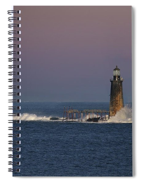 Surf At Ram Island Ledge Spiral Notebook