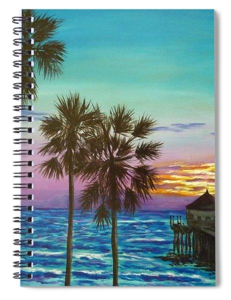 Surf City Sunset Spiral Notebook