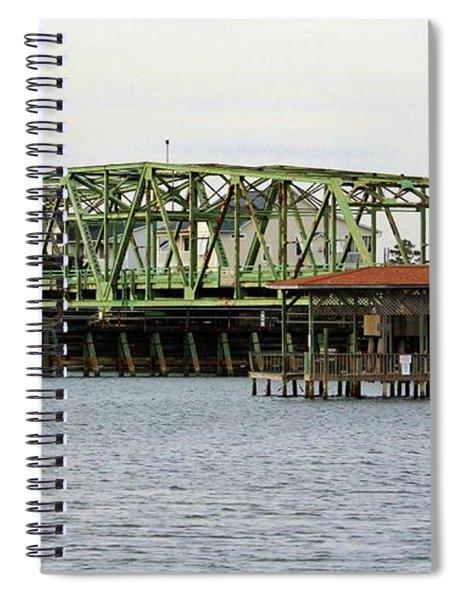 Surf City Swing Bridge Spiral Notebook