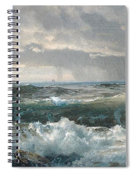 Surf On The Rocks Spiral Notebook