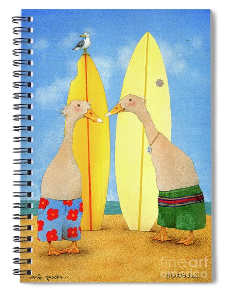 Surf Quacks... Spiral Notebook