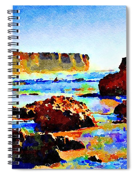 Surf The Headlands Spiral Notebook