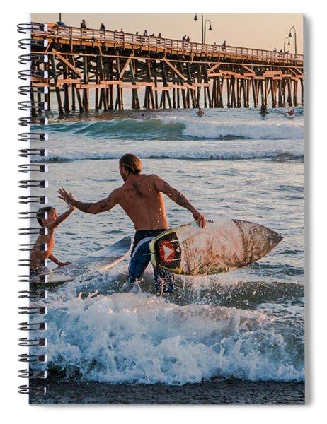 Surfboard Inspirational Spiral Notebook