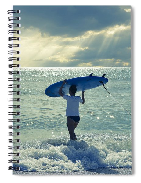 Surfer Girl Spiral Notebook