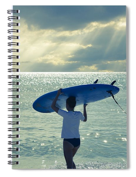 Surfer Girl Square Spiral Notebook