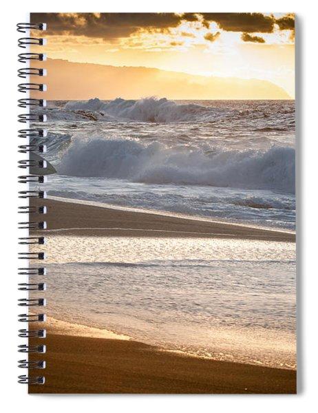Surfer On Beach Spiral Notebook