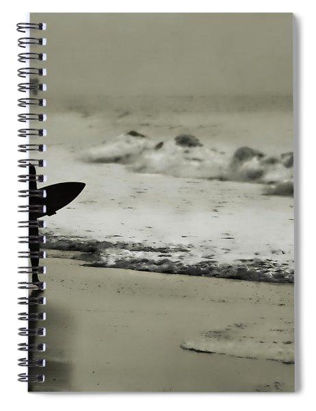 Surfer Silhouette Spiral Notebook