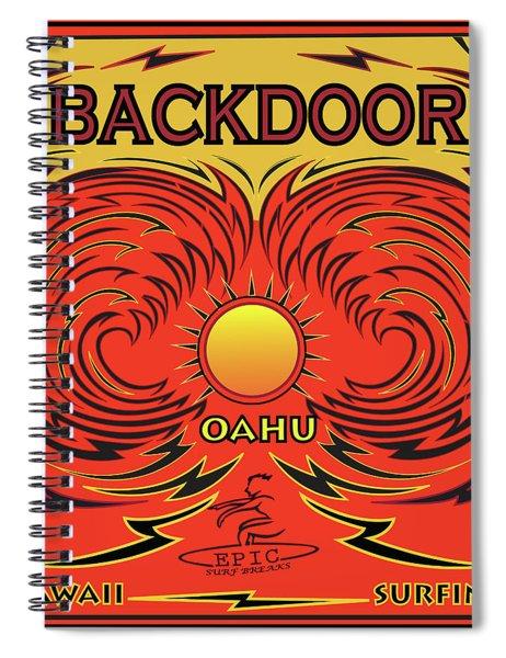 Surfing Backdoor Oahu Hawaii Spiral Notebook