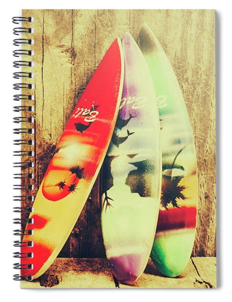 Surfing Still Life Artwork Spiral Notebook