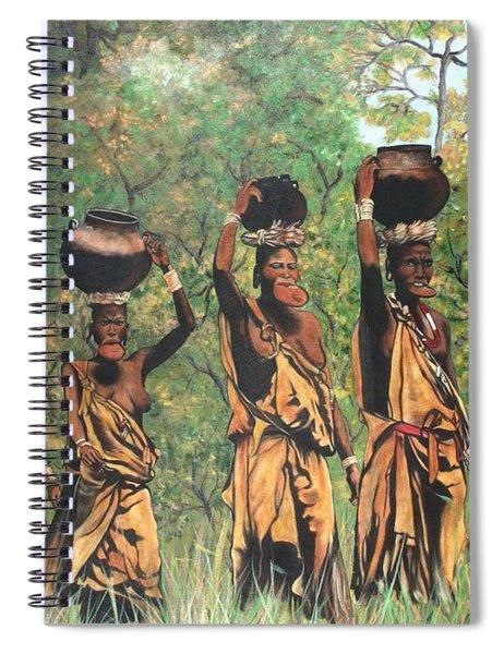 Blaa Kattproduksjoner        Surma Women Of Africa Spiral Notebook