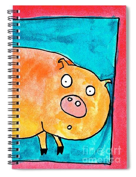 Surprised Pig Spiral Notebook