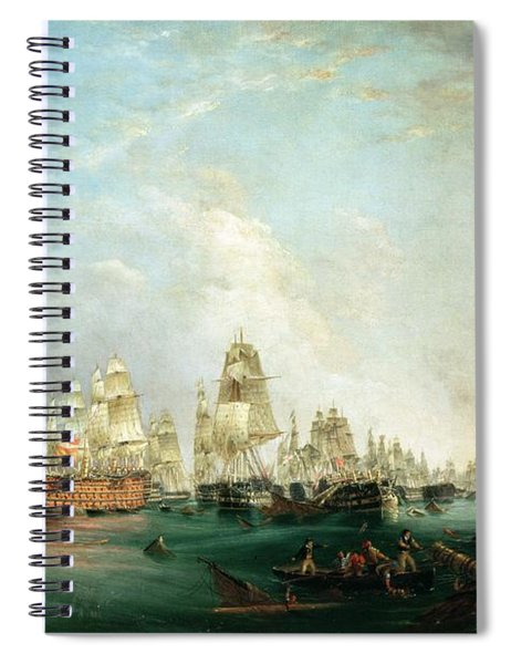 Surrender Of The Santissima Trinidad To Neptune The Battle Of Trafalgar Spiral Notebook