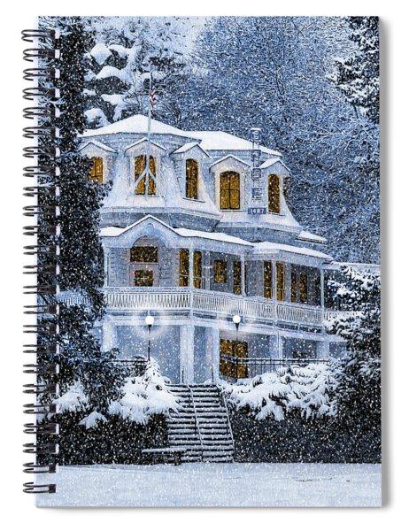 Susanville Elks Lodge At Christmas Spiral Notebook