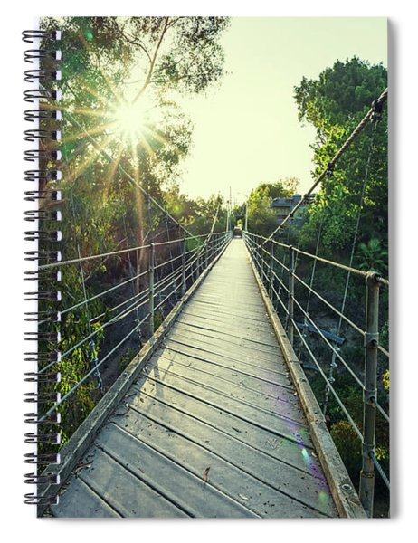 Suspension And Sunbeams Spiral Notebook