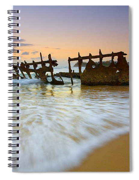Swallowed By The Tides Spiral Notebook
