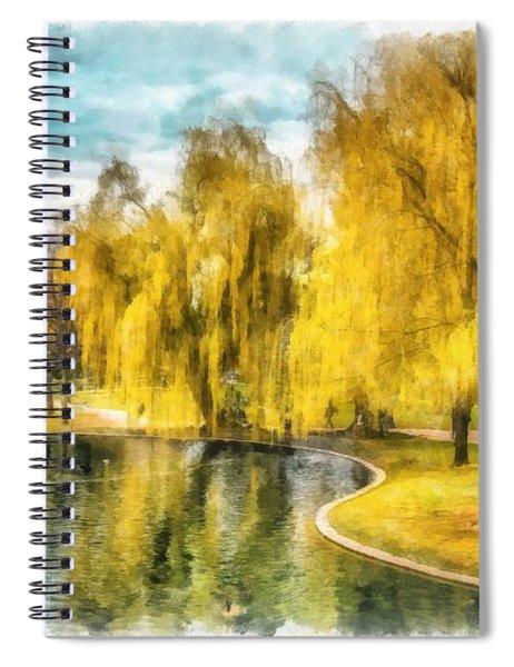 Swan Boats Boston Public Garden Spiral Notebook