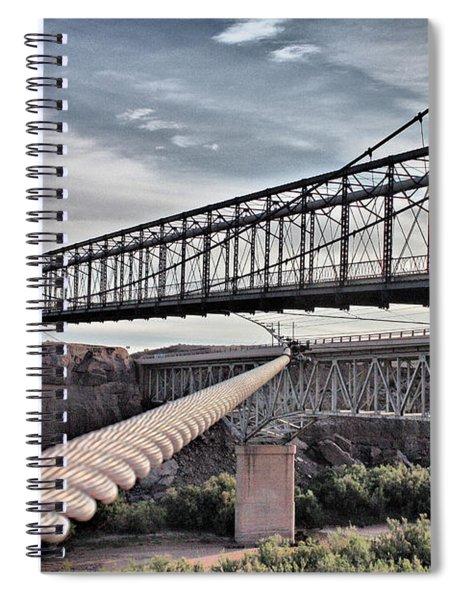 Swayback Suspension Bridge Spiral Notebook