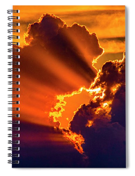 Sweet Nebraska Crepuscular Rays 010 Spiral Notebook