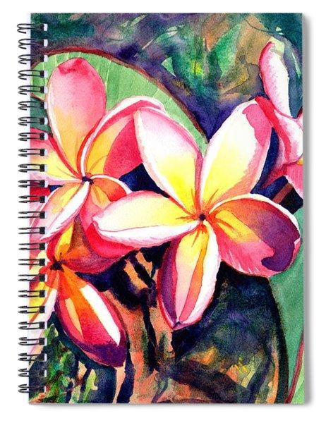 Sweet Plumeria Spiral Notebook