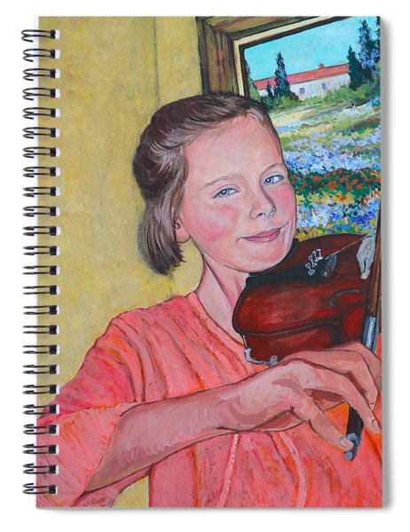 Sweet String Serenade Spiral Notebook