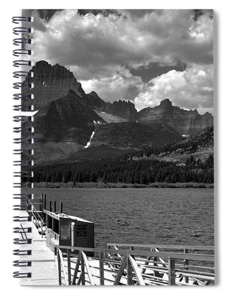 Swiftcurrent Lake Boat Dock Spiral Notebook