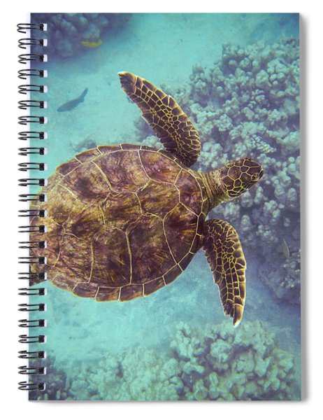 Swimming Honu From Above Spiral Notebook