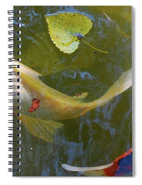 Swimming Koi  Spiral Notebook