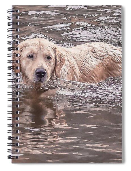Swimming Puppy Spiral Notebook